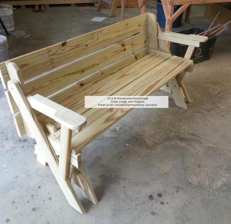 Folding Bench Picnic Table opened up Folding Bench Picnic Table opened ...