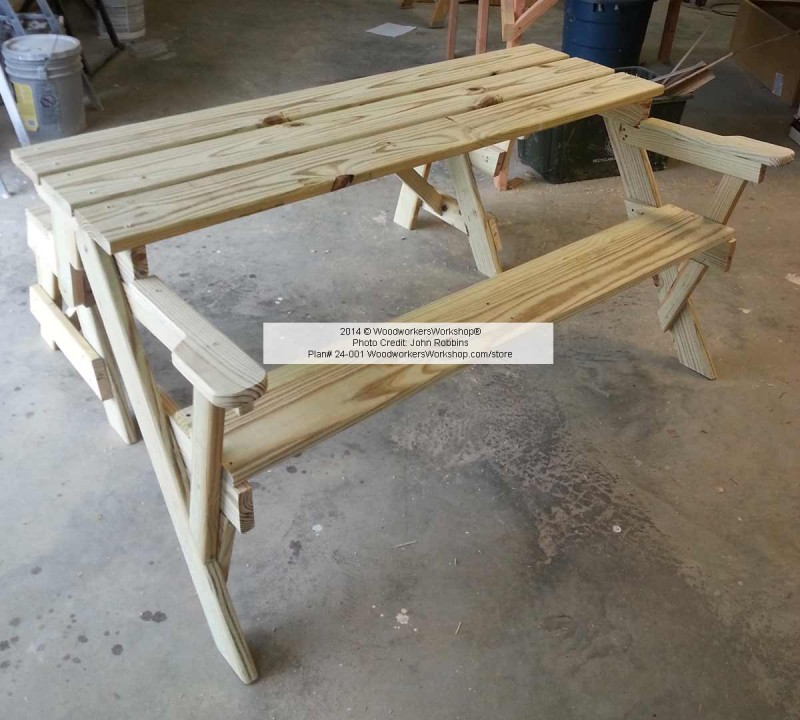 Wonderful Convertible Folding Picnic Bench Table  WoodchuckCanuckcom
