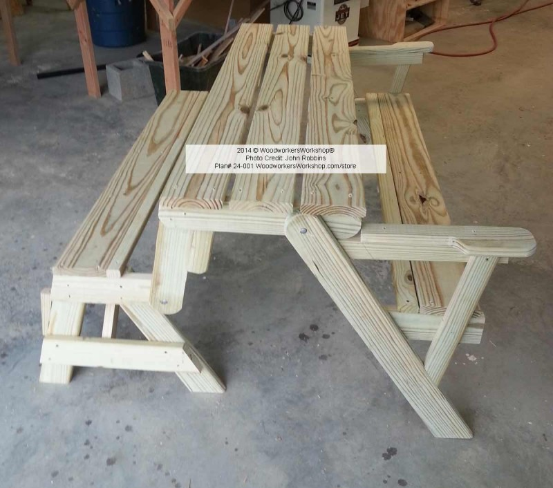 Convertible Folding Picnic Bench Table