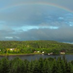 lake,rainbows,panoramic,Loch Katrine,Nova Scotia