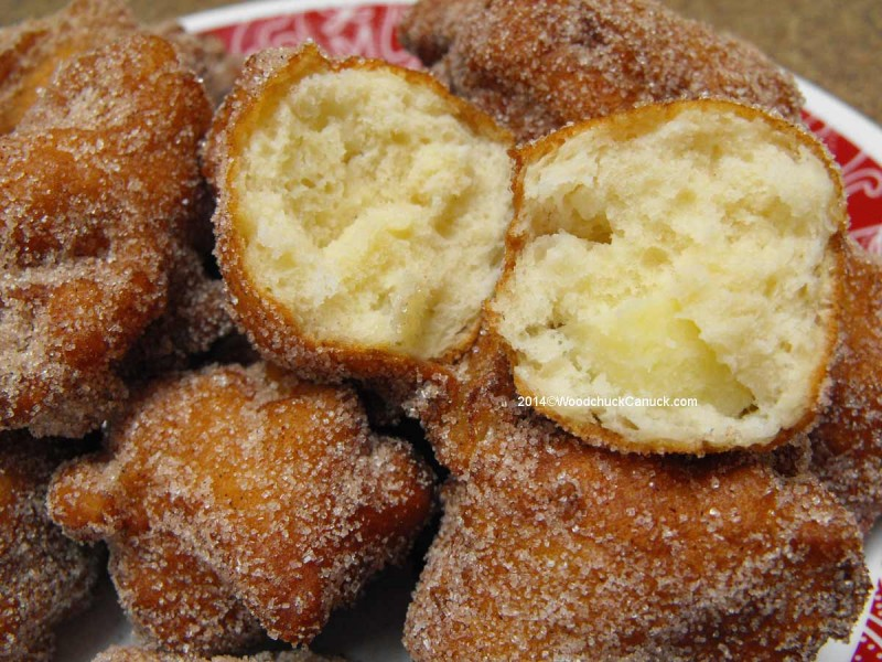 Homemade deep fried apple fritters | WoodchuckCanuck.com