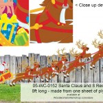 05-WC-0152 Santa, sleigh and 8 Reindeer,woodworking plans