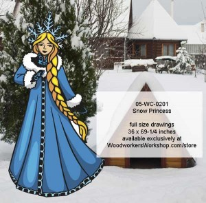 05-WC-0201 Snow Princess woodworking yard art pattern