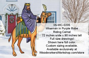 yard art projects,full size drawings,nativity,wiseman,camels