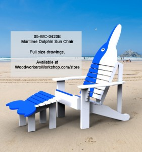 woodworking plans,patterns,projects,lounger chairs,dolphns