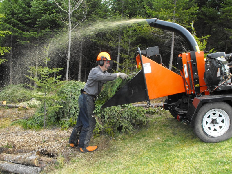 wood chipping,forestry,mulching