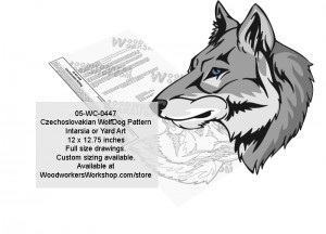 Czechoslovak Wolfdog Intarsia or Yard Art Woodworking Pattern