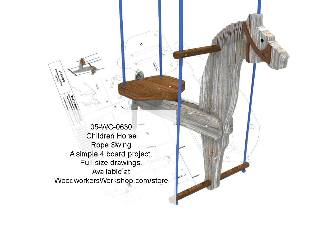Free kids swing plans just b cause for Child swing plans free