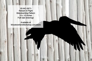 Pelican in Flight Yard Art Woodworking Pattern,plans,projects