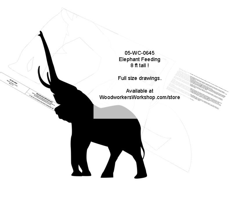 woodworking projects,patterns,blueprints,elephants,animals,wildlife
