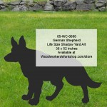 German Shepherd Life Size Yard Art Woodworking Pattern,woodworking plans