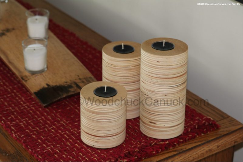candle holders,plywood,woodworking,crafts