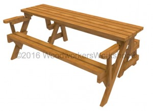 Folding Bench Picnic Tables,woodworking plans,PDF downloads