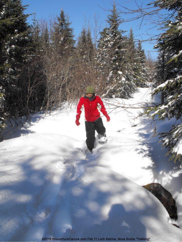 winter,snowshoeing,Loch Katrine,Nova Scotia
