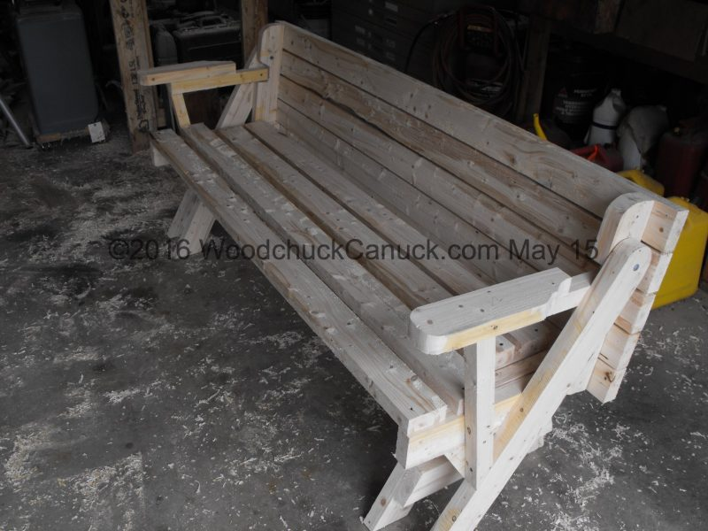 woodworking,folding bench picnic table