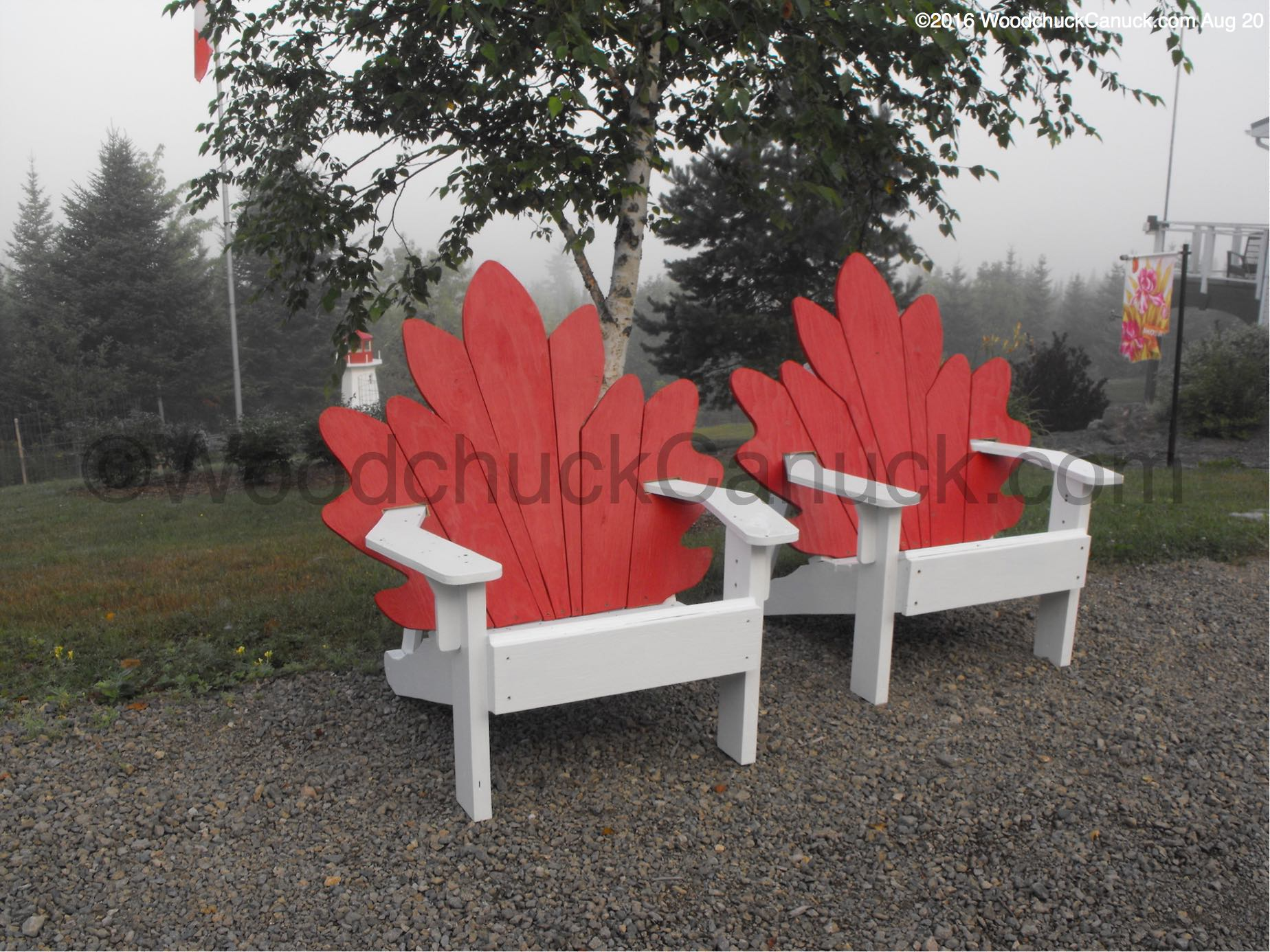 Building Our Maritime Maple Leaf Chair Woodchuckcanuck Com