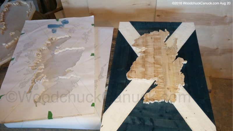 wooded maps,woodworking,scrollsawing,Scotland,cartography