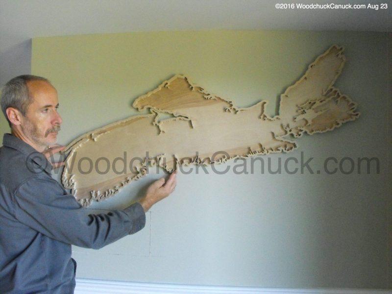 Nova Scotia,decor,Maritimes,wooden maps,cartography