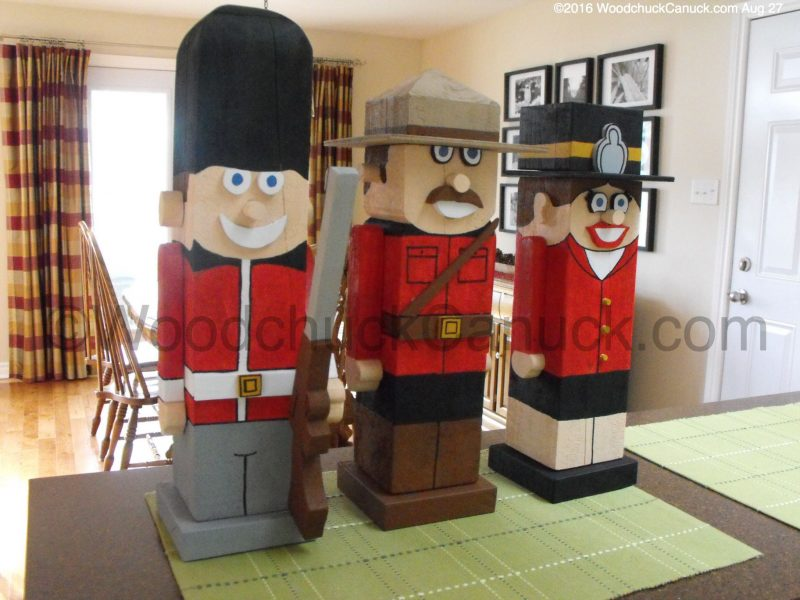 timber people,woodworking,RCMP,Royal Guardsman