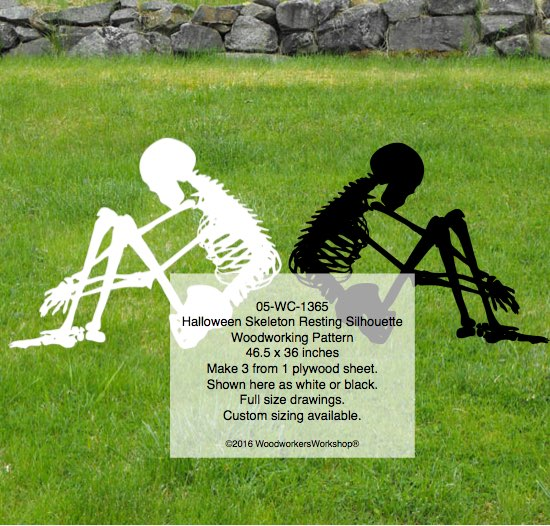 skeletons,sitting,resting,hunched over,woodworking plans,plywood,drawings,blueprints