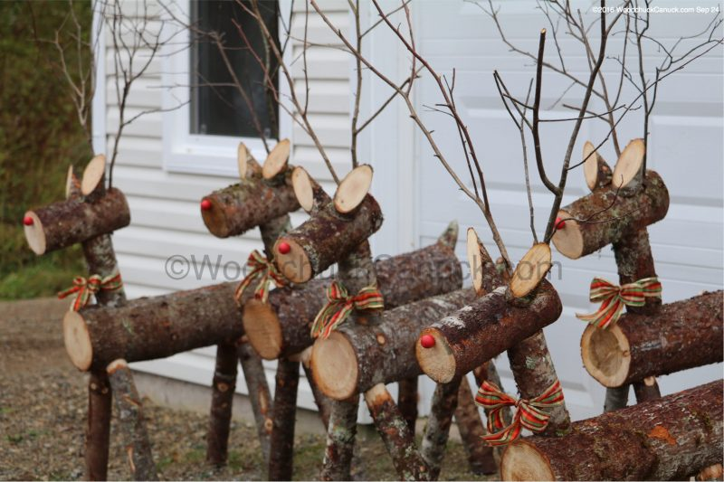 log reindeer,small business,made in Nova Scotia,local crafts