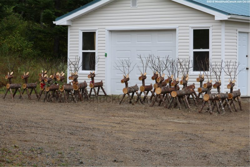 log reindeer,wod crafts,made in Nova Scotia