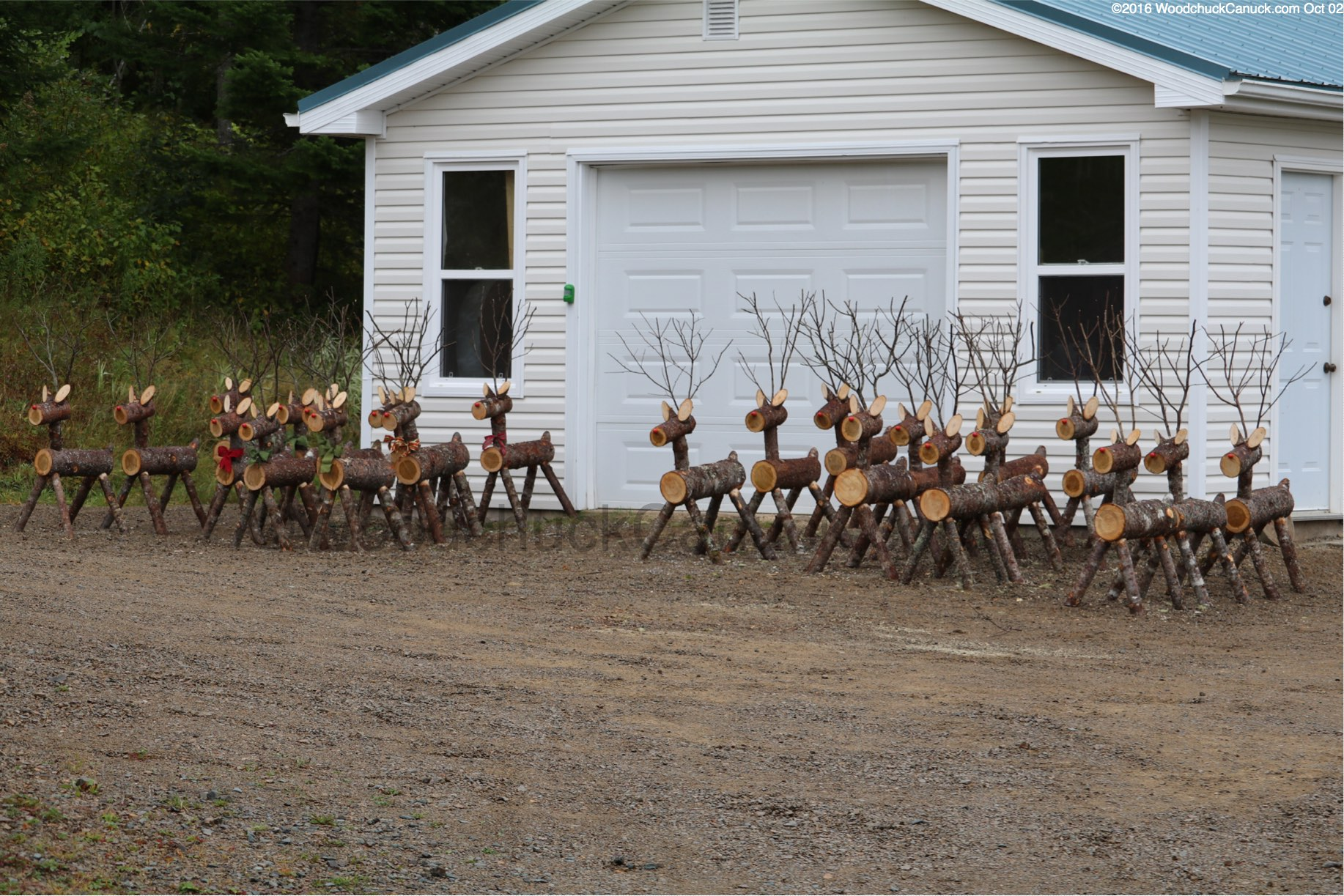 Log Crafts Log Reindeer Woodchuckcanuckcom