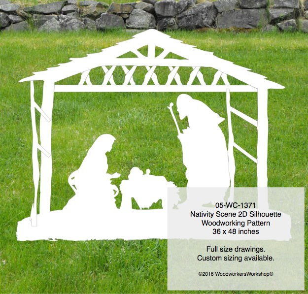 nativity,scene,manger,plywood,woodworking plans