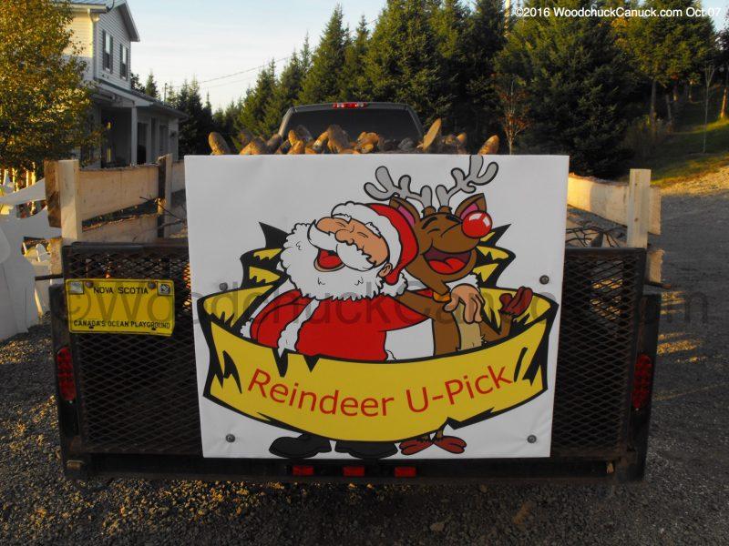 log reindeer,wood crafts,made in Nova Scotia