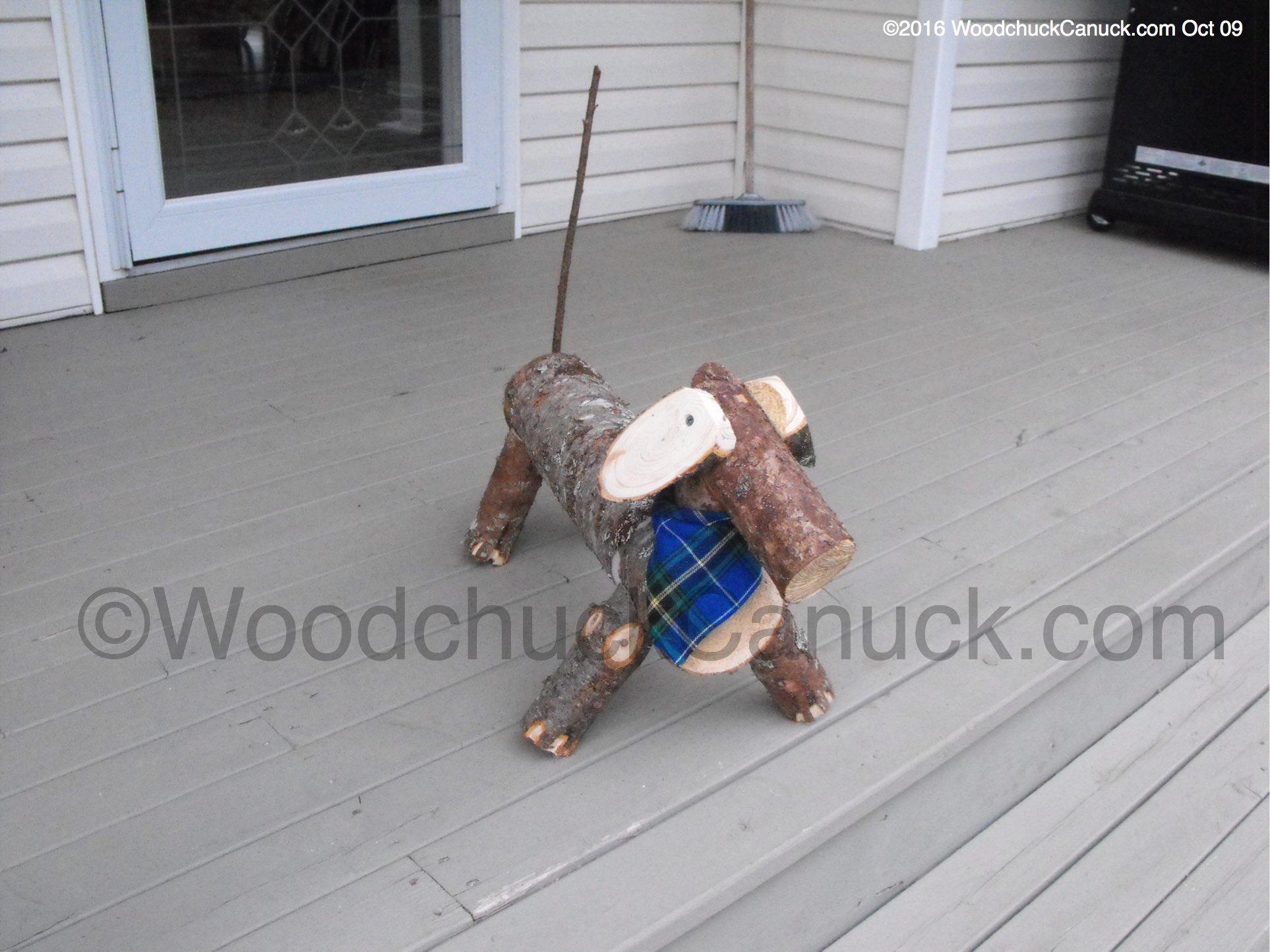 Dachshund Log Dogs Woodchuckcanuck Com