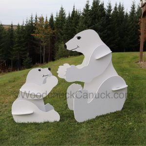 jigsaw,plywood,3D polar bears,wood crafts,stores flat pack,animals,wood crafts, made in Nova Scotia