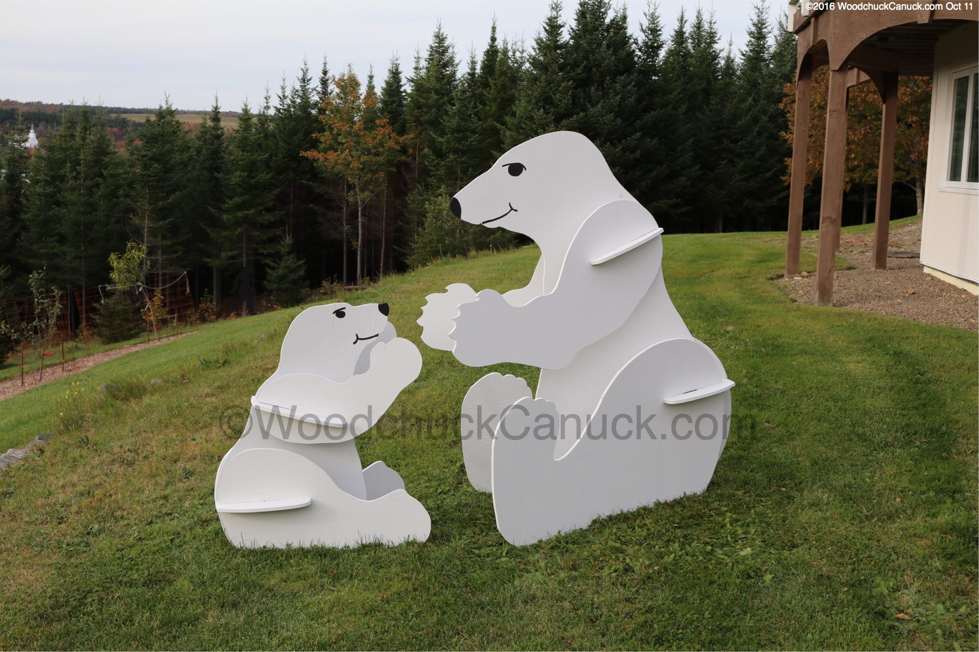 3d Momma And Baby Polar Bears Woodchuckcanuck Com