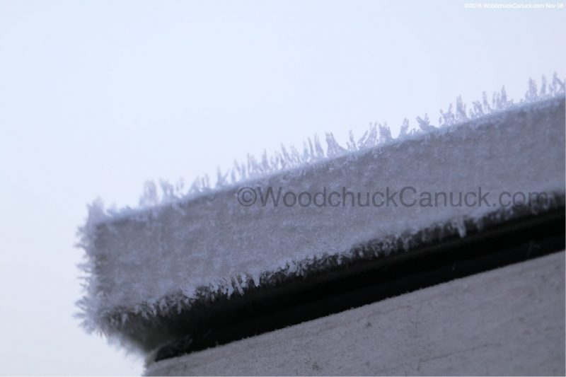 Frost on aluminum