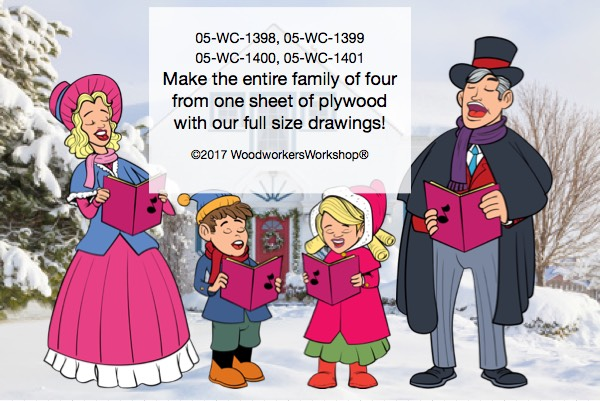 Carolina,Christmas Carolers,family,singing,xmas,woodworking plans