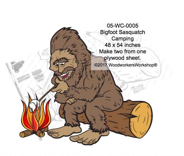 Bigfoot,Sasquatch,full size,large,painting,crafts,yard door,plywood,woodworking
