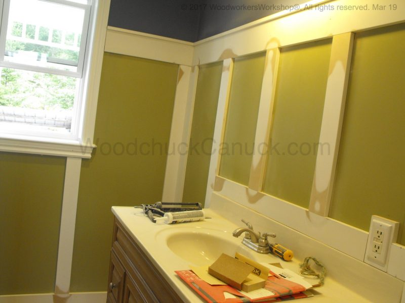 Shaker style bathroom trim work, farmhouse bathroom style, Loch Katrine, Nova Scotia