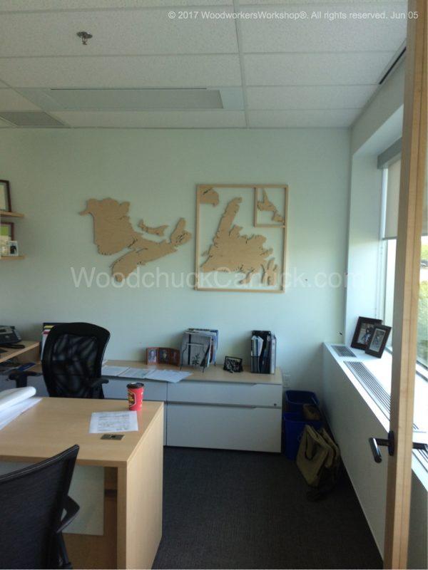 Atlantic provinces, wooden maps,Nova Scotia,New Brunswick,Newfound and Labrador,Prince Edward Island,PEI