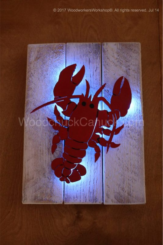 lobster,handcrafted,nautical,made in nova scotia,pallets,LED lights