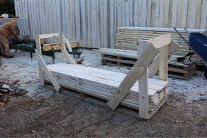 Poplar lumber on pallets