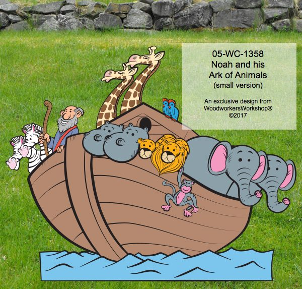 Noah's ark, animals,elephants,zebras,lions,monkeys,hippos, giraffes,yard decor,plywood