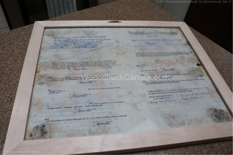 picture frame,land deed