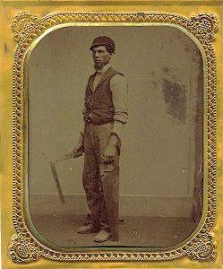 1860 California traveling carpenter