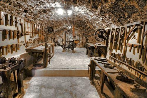 Carpenter shop underground
