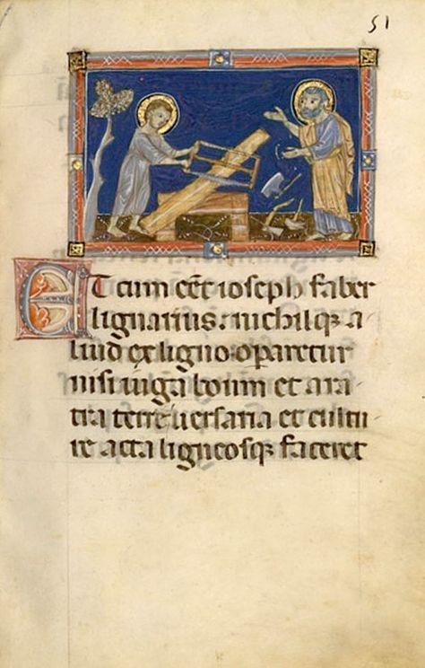 Depiction of Christ assisting St Joseph