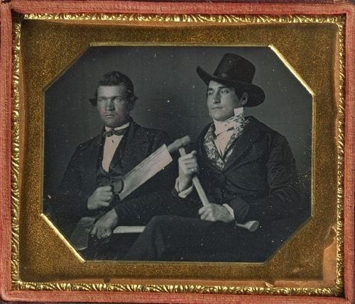 Vintage Carpenter photo of 2 men