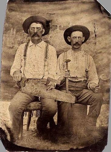 Vintage Carpenter photo of two men