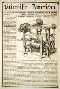 1855 Sawmill invention