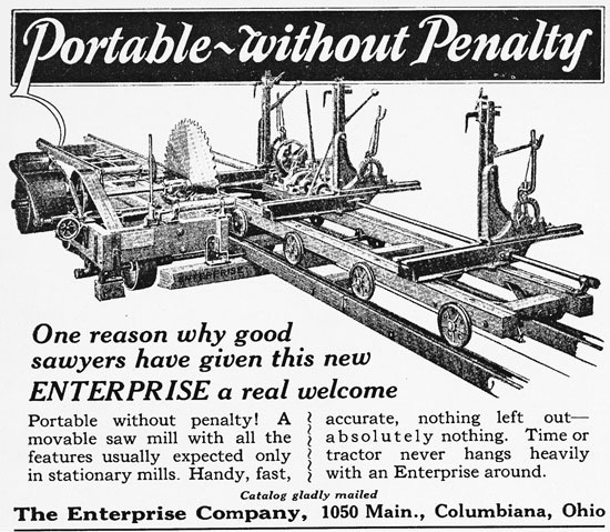 portable saw mills,sawmill history