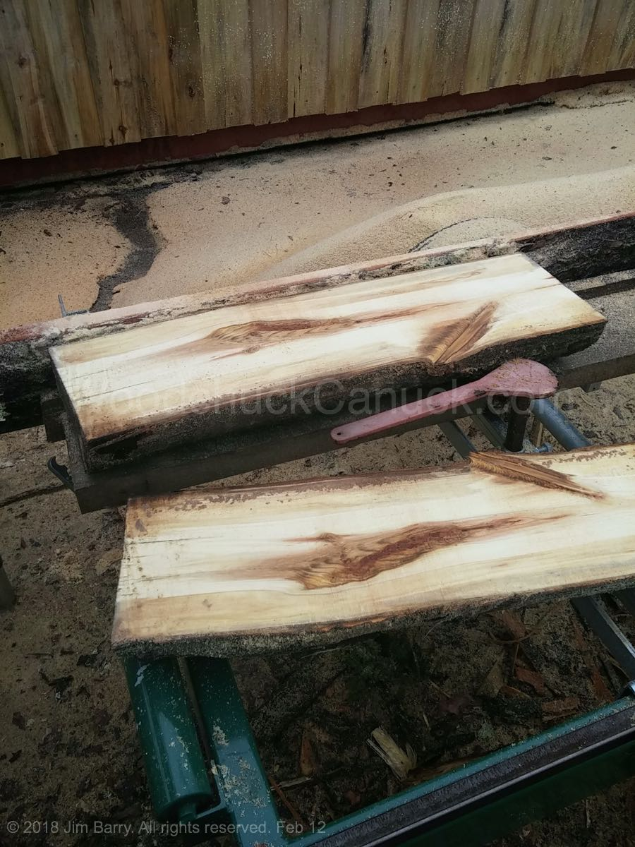 saw milling a short length of wood