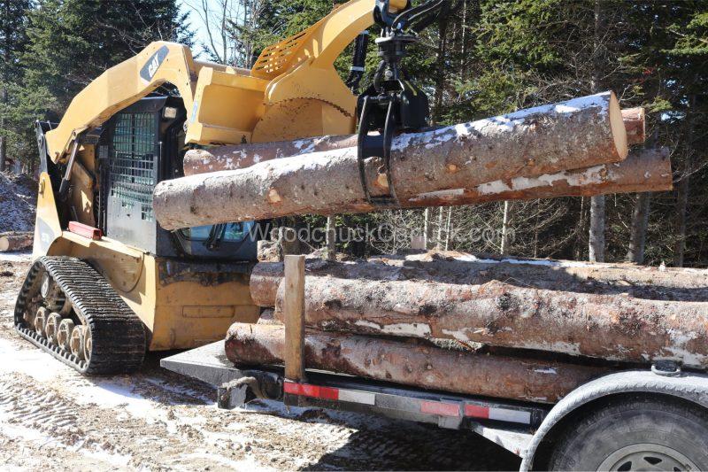 skidsteer,spruce logs,piedmont